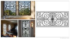 Rectangular 35×17-inch Tableaux Faux Iron Window Treatments are sustainable, fine home decor window treatments that are easy to install and dazzling to the eye. Delight your friends, family and neighbors with functional artwork that will never cease to amaze! For pricing and product details, please visit FauxIronDIRECT.com or call 1 (800)281-9963 today!