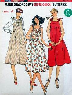 Butterick 6048  Easy Sundress or Jumper  Very Fun  by Clutterina