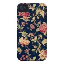 Elegant Vintage Floral Rose iPhone Case iPhone 4 Case-Mate Case