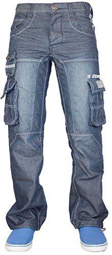Men Enzo Cargo Combat Denim Jeans Waist 30 Length 30 2939870ad5