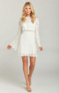 fc2ea5a47ce Naomi Mini Dress ~ Buckingham Lace White