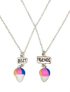 BFF Snowcone Necklaces