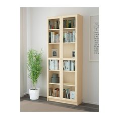 """Office? They have different color finishes. Can do with or without doors    BILLY / OXBERG Bookcase - birch veneer, 31 1/2x79 1/2x11 3/4 """" - IKEA"""