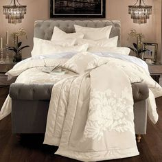 Dorma Isabelle Cream Bed Linen Collection | Dunelm