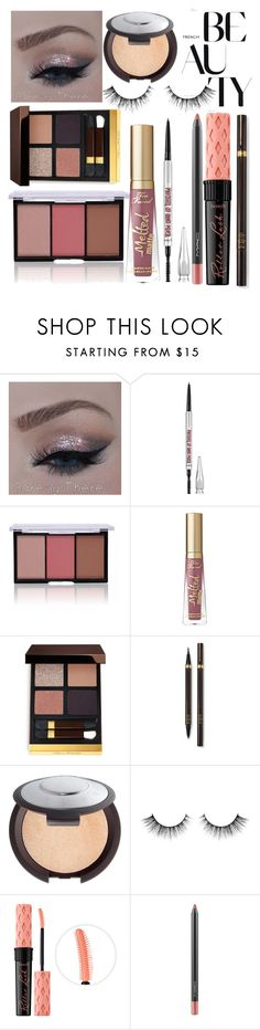 """""""NYE makeup look"""" by prigelprasojo ❤ liked on Polyvore featuring beauty, Tom Ford, Becca, Benefit and MAC Cosmetics"""