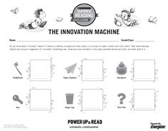 Innovation Machine Printable | Summer Reading Challenge 2015. A free printable activity for kids! #summerreading