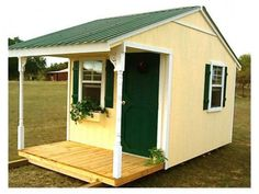 Is it a shed or a tiny house. That is the question. Regardless, it's jam packed with country charm. Don't forget to bring some chairs and some beverages! Photo Credit: http://tinyhouselistings.com/ #tinyliving #tinysheds #tinyhomes