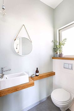 Gästebad Acne at my age? Small Downstairs Toilet, Small Toilet Room, Guest Toilet, Downstairs Bathroom, Bathroom Design Small, Bathroom Interior Design, Small Toilet Design, Ideas Baños, Wc Design