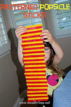Mess For Less: Popsicle Stick Patterns