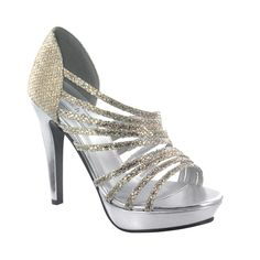 62a0cbc1b6b12 Touch Ups Women s Carey - Gold Silver Glitter Heels