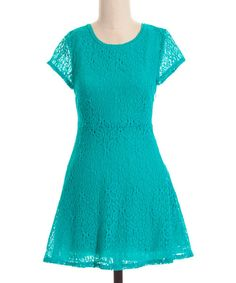 Take a look at the Coveted Clothing Jade Daisy Lace A-Line Dress on #zulily today!