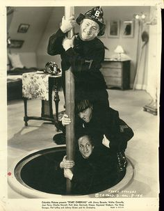 A vintage press shot of comic legends The Three Stooges for the classic 1938 Jimmy Durante comedy, START CHEERING! The Three Stooges, The Stooges, Great Comedies, Classic Comedies, Classic Series, Classic Tv, Classic Hollywood, Old Hollywood, American Exceptionalism