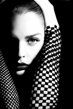 ♀ Black & white portrait #beauty #face #woman