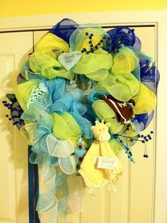 Baby shower wreath for Emily