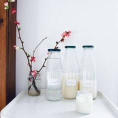 Homemade nut milk how-to Green Cleaning, Green Life, Diy Beauty, Beauty Tips, Clean House, Cleaning Hacks, Planer, Diy And Crafts, Glass Vase