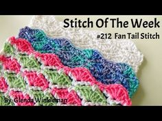 Stitch Of The Week - How To Crochet Fan Tail Stitch (Free Instructions) ? Crochet Stitches Patterns, Crochet Chart, Love Crochet, Learn To Crochet, Stitch Patterns, Crochet Videos, Brick Stitch, Crochet For Beginners, Crochet Projects