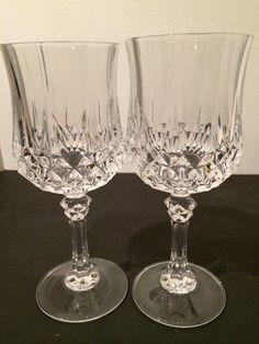 Cristal d'Arques 2 Piece Stemware Set Glasses French