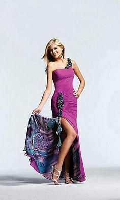 d259f5fcee593 Fun purple print dress Prom Dress Shopping, Hot Dress, Jada, Sewing Ideas,