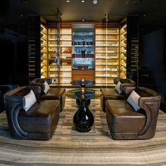 Cigar room Vault in the UAE, by LW Design Group