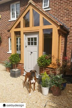 House Front Porch, Front Porch Design, Front Driveway Ideas, Garden Structures, Outdoor Structures, Porches, Canopy, Conservatory Ideas, Shed