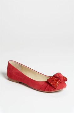 $88.95 flats can be worn with dresses, jeans, and capris.  Just think Mary Tyler Moore and you're there.  For me, the black flat is not always the best option though.  Go for a fun color like this one in red with just a tiny bit of sparkle.