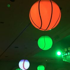 suspended sports ball