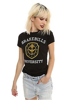 "Physical, Natural, Illusion, Knowledge, Healing and Psychic... whichever your discipline, this shirt is A+ campus style! The Brakebills University logo and crest are printed on a fitted black <i>The Magicians</i> T-shirt.<div><br></div><div><ul><li style=""list-style-position: inside !important; list-style-type: disc !important"">100% cotton</li><li style=""list-style-position: inside !important; list-style-type: disc !important"">Wash cold; dry low</li><li style=""list-style-position: inside…"