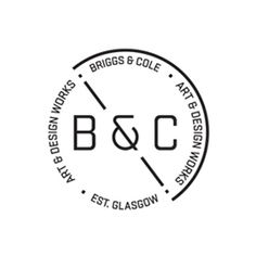 Logo for Glasgow-based art and design partnership Briggs & Cole designed by Effektive.