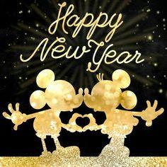 Feliz año a todos los fans disney 🧚♀️ . Disney Happy New Year, Happy New Year 2015, Happy New Year Wishes, Happy New Year Greetings, Holiday Wishes, Year 2016, Happy 2017, Happy Year, Happy New Year Pictures