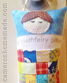 Homemade DIY Projects & Tips by Cameron: Scrappy Tooth Fairy Pillow - with a Secret Pocket!