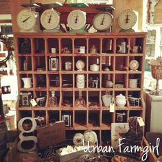 Setting up the shop today!! Grand opening this Thursday! {Urban Farmgirl - Rockford, IL}