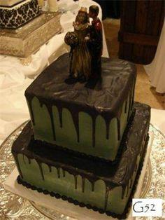 Zombie groom's cake by BellaRosa