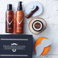 Beard And Moustache Care Gift Set from notonthehighstreet.com