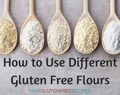 How to Use Different Gluten Free Flours | There are so many different gluten free flours and they all act differently!