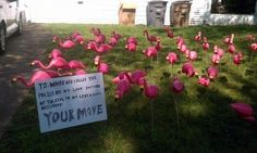 This perpetrator of flamingo-bombing: | 27 People Who Should Be In The Passive-Aggressive Hall Of Fame