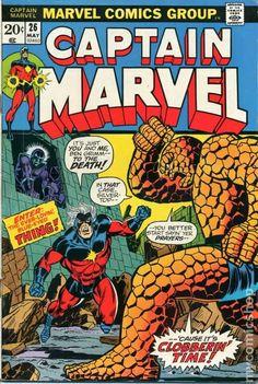 Captain Marvel (1968 1st Series Marvel) comic books Marvel Comics Superheroes, Marvel Comic Books, Fun Comics, Comic Book Heroes, Marvel Characters, Comic Books Art, Best Comic Books, Univers Marvel, Caricature
