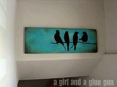 Consider a repaint of the bird art in the guest bath