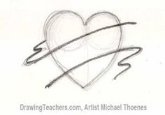 How to Draw a heart with banner Step 2