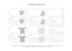 Etiquettes pour cadeaux à télécharger - Gift labels to download