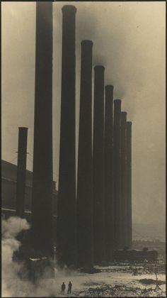 Margaret Bourke-White. The Towering Smokestacks of the Otis Steel Co., Cleveland. 1927-28
