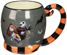 Spend your coffee break with Jack and Sally from Tim Burton's animated classic, The Nightmare Before Christmas ! The Nightmare Before Christmas Jack Skellington and Sally 16 oz. Ceramic Mug features a