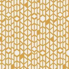 Canyon Wall by April Rhodes for Art Gallery Fabric - 1/2 Yard Gold White - Arizona - Modern Fabric  Southwestern Fabric Diamonds Triangles