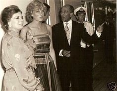 Egyptian President Anwar Sadat and his wife joined Charles and Diana for dinner during their honeymoon aboard Brittania.