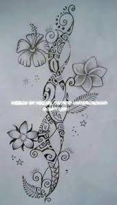Image result for maori flower tattoo designs