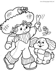 Strawberry Shortcake color page, cartoon characters coloring pages, color plate, coloring sheet,printable coloring picture