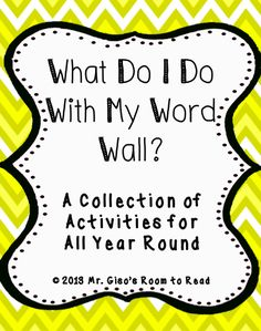 What To Do With My Word Wall? I just put the words on it. Looking forward to reading this to boost my word wall usage creativity! Phonics Words, Spelling Words, English Spelling, Spelling Games, Grade Spelling, Teaching Tips, Teaching Reading, Guided Reading, Classroom Fun