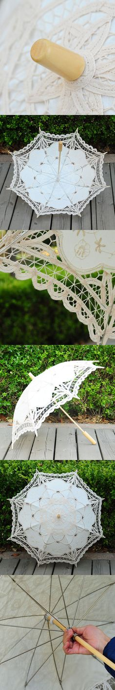 Upscale Handmade Craft Lace Umbrella Flower Sun Umbrella Basswood Decoration Photography Props Wedding Birthday Party Umbrella