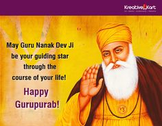 May Guru Nanak Dev Ji inspire you to achieve all your goals and  may his blessings be with you in whatever you do!  Happy Gurpurab from Team Kreative Kart. #HappyGurupurab