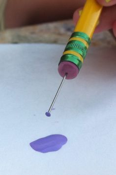 How to make teeny polka dots.