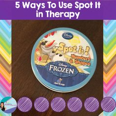 The Dabbling Speechie: Spot It Game-Numbers and Shapes Olaf Edition. 5 ways I use this game in therapy! Pinned by SOS Inc. Resources. Follow all our boards at pinterest.com/sostherapy/ for therapy resources.